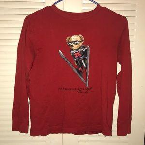 Kids Polo Ralph Lauren Long Sleeve Bear Shirt